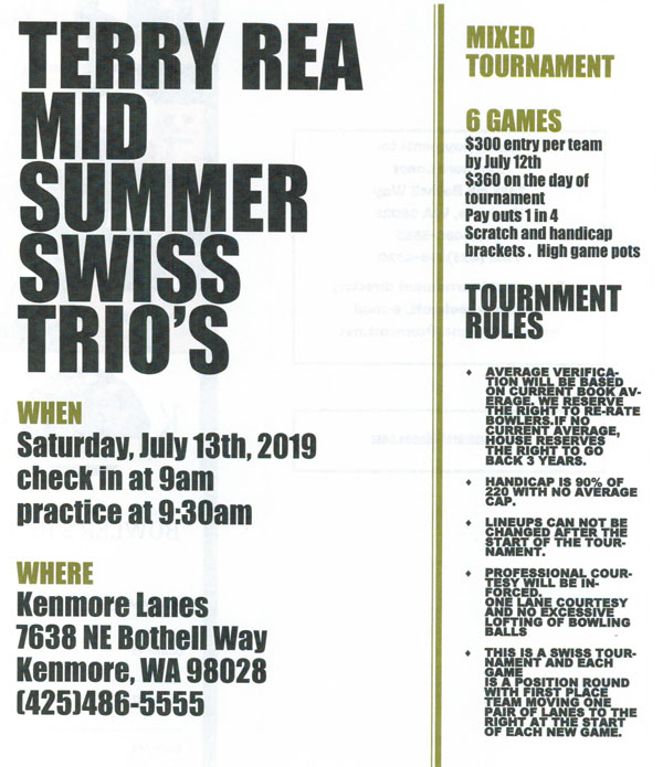 Terry Rae Tournament 1